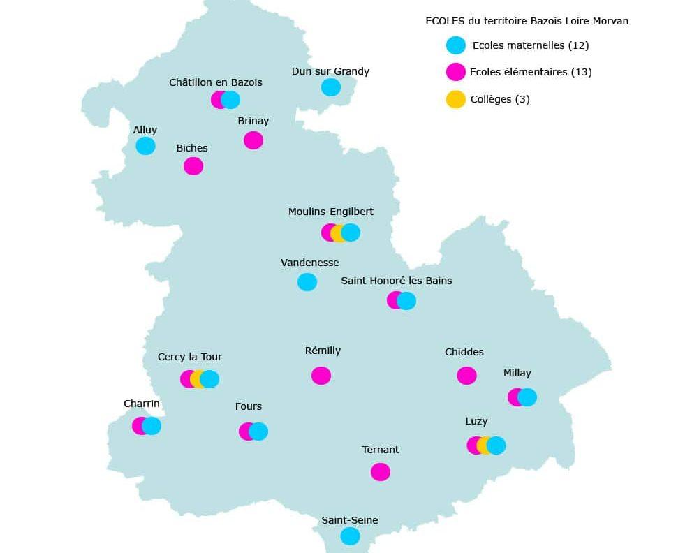 Carte territoire Ecoles